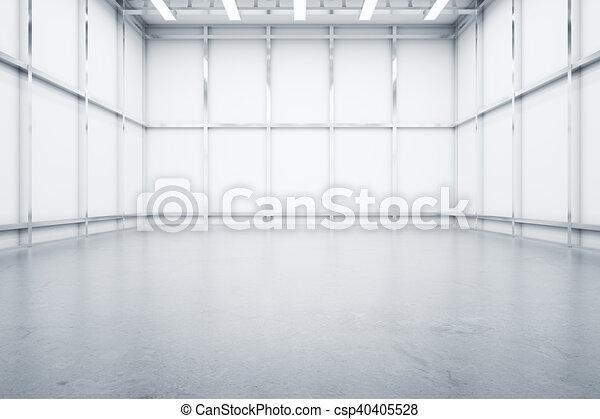 倉庫, 內部, 正面圖 - csp40405528