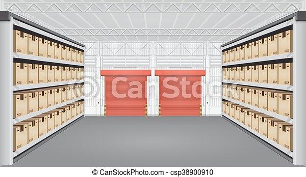 倉庫, 内部, ベクトル - csp38900910