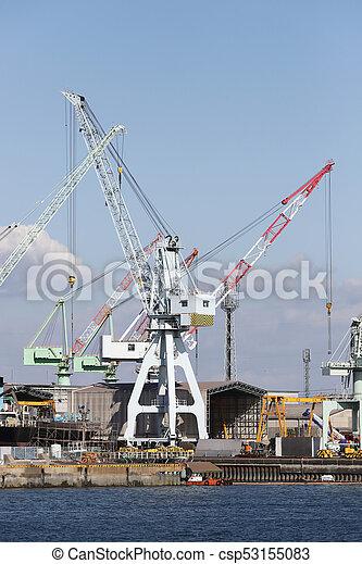 倉庫, 分配, 交通機関, 貨物 - csp53155083
