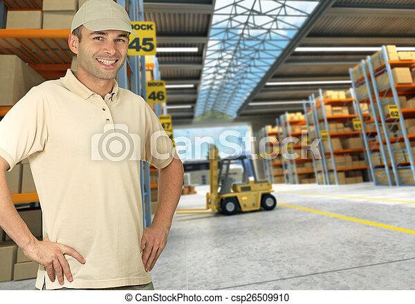 倉庫, 分配, 労働者 - csp26509910