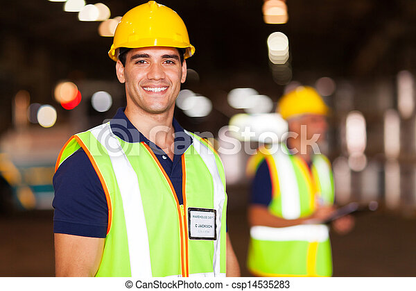 倉庫, 労働者, 若い - csp14535283