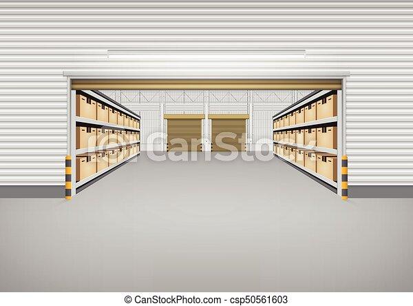 倉庫, 建物, ベクトル - csp50561603