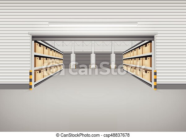 倉庫, 建物, 背景 - csp48837678