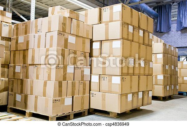 倉庫, 生産, 店 - csp4836949