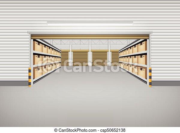 倉庫, 空 - csp50652138