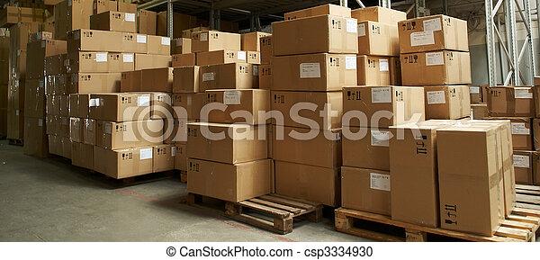 倉庫, 箱, catron - csp3334930