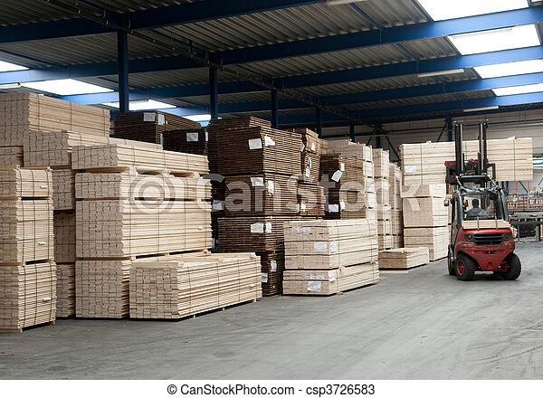 倉庫, 製材 - csp3726583
