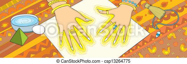個人, 超感覚的, 手 - csp13264775