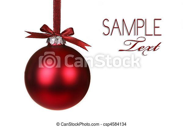 假日, 圣诞节装饰物, 悬挂 - csp4584134