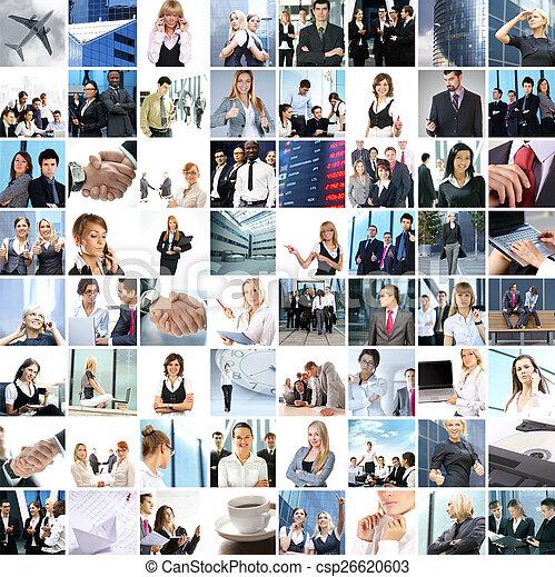 偉人, 作られた, ビジネス, コラージュ, について, 別, 写真, 250 - csp26620603