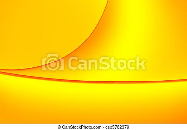 做, 背景, 宏, 圖像, 黃色, tones., 紙, 單子, 圖案, 橙, 彎曲, 顏色 - csp5782379