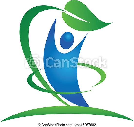 健康, ロゴ, 自然 - csp18267682