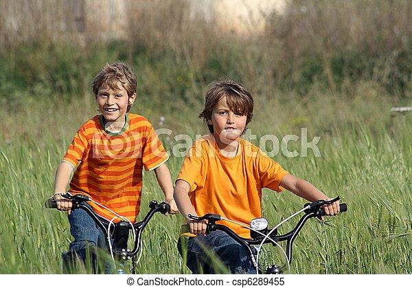 健康, 子供, 遊び, 自転車 - csp6289455