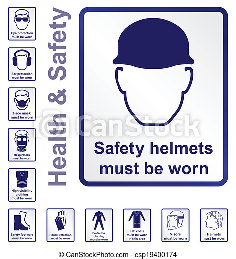 健康, 安全, サイン - csp19400174