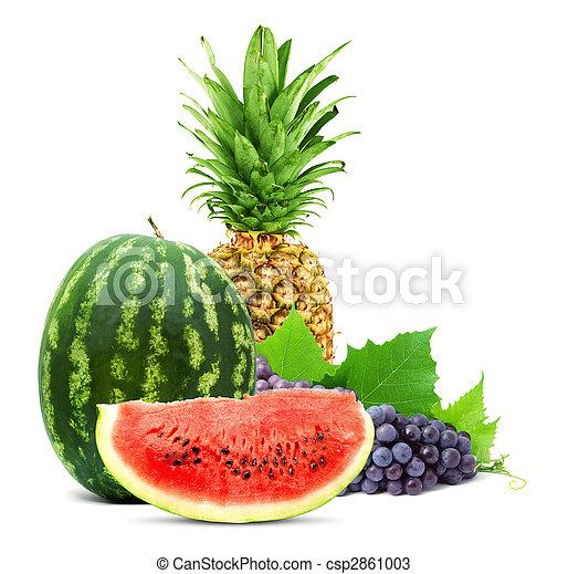 健康, 新鮮な果物, カラフルである - csp2861003