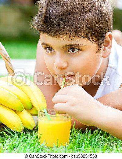 健康, 男の子, 幸せ, 肖像画 - csp38251550