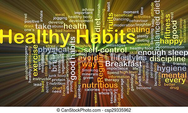 健康, 發光, 概念, 習慣, 背景 - csp29335962