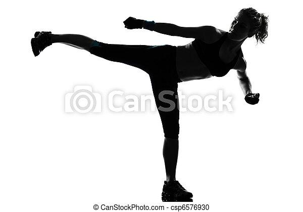 健身, 測驗, 婦女, 姿勢 - csp6576930