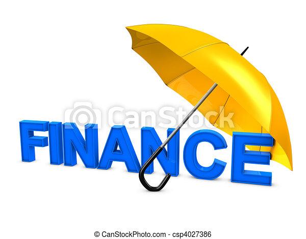 傘, 金融 - csp4027386
