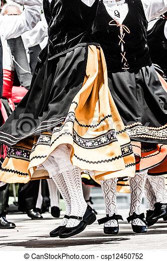 傳統, 跳舞, 西班牙語 - csp12450752
