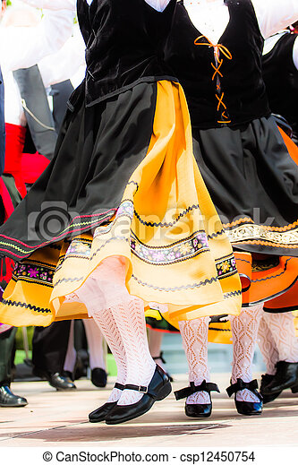傳統, 跳舞, 西班牙語 - csp12450754