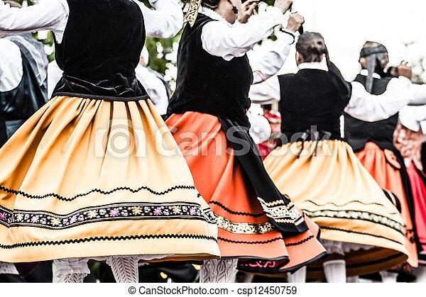 傳統, 跳舞, 西班牙語 - csp12450759