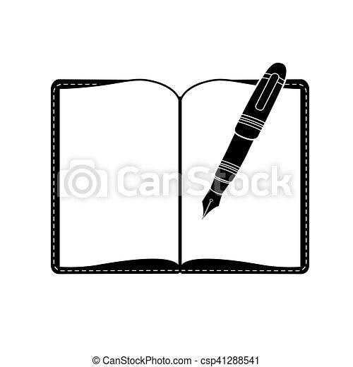 優雅である, ペン, イメージ, アイコン - csp41288541