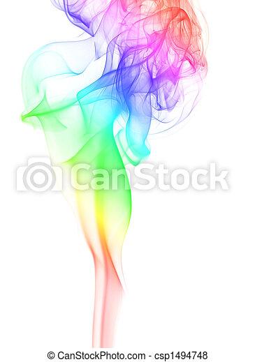 優雅である, 煙, 虹 - csp1494748
