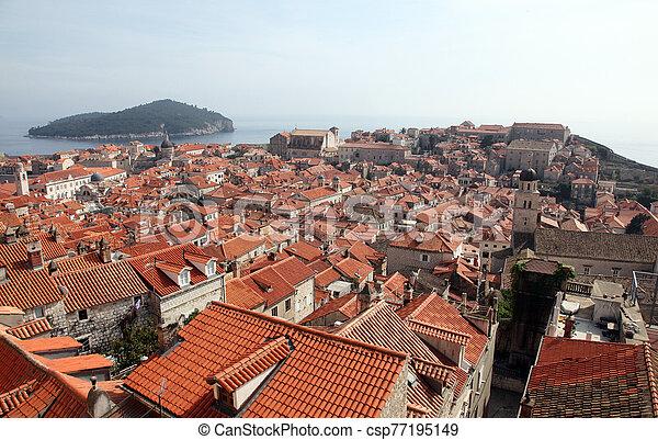 光景, dubrovnik, croatia, 都市, 古い - csp77195149
