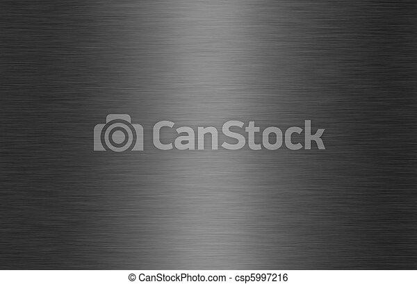 光沢がある, ブラシをかけられた金属, 手ざわり, 背景 - csp5997216
