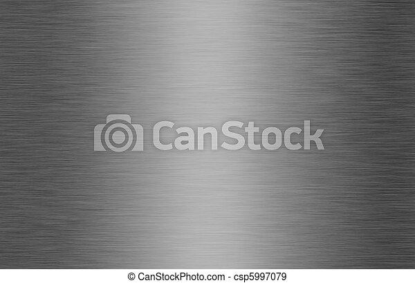 光沢がある, ブラシをかけられた金属, 手ざわり, 背景 - csp5997079