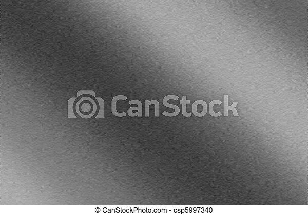 光沢がある, ブラシをかけられた金属, 手ざわり, 背景 - csp5997340