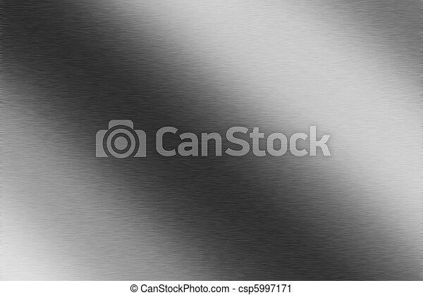 光沢がある, ブラシをかけられた金属, 手ざわり, 背景 - csp5997171