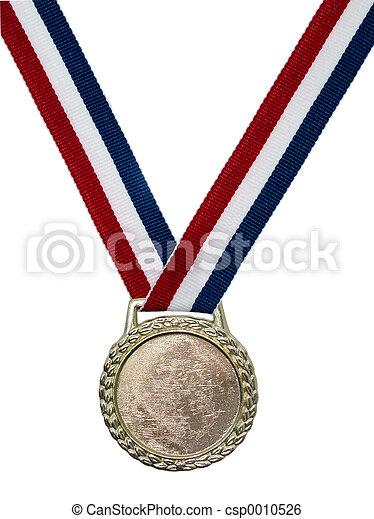 光沢がある, メダル, 金 - csp0010526
