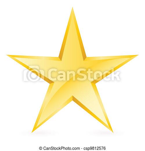 光沢がある, 星, 金 - csp9812576