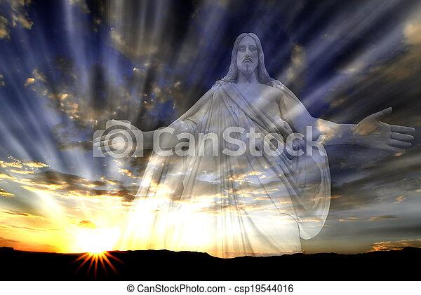 光線, 愛, ライト, 空, イエス・キリスト, 希望 - csp19544016