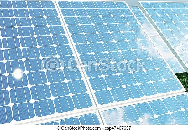 光起電 反射 Sky 日当たりが良い Modules Energy イラスト 太陽