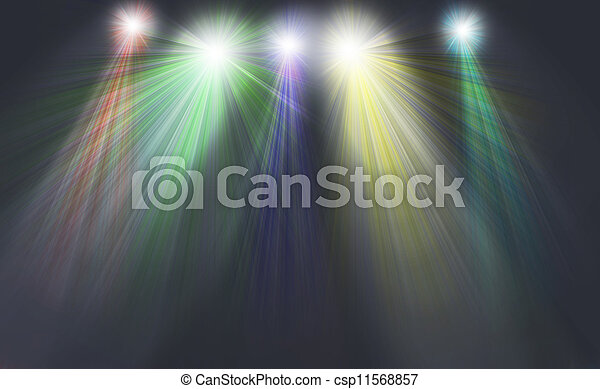 光, 上色, 聚光燈 - csp11568857