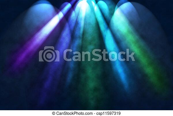 光, 上色, 聚光燈 - csp11597319
