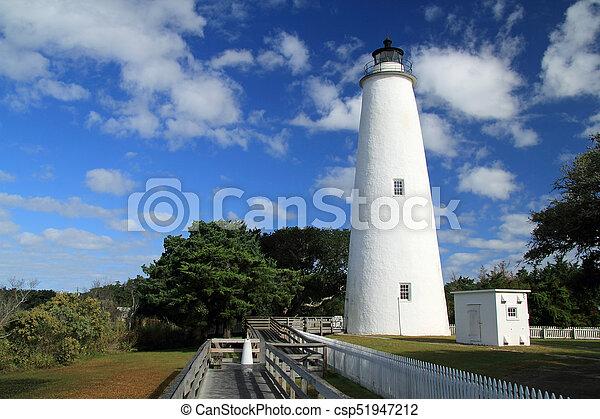 光, 具有历史意义, ocracoke - csp51947212