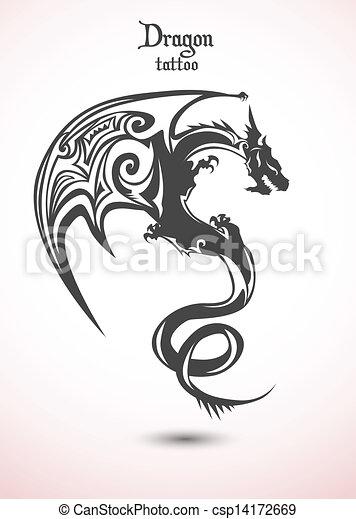 入れ墨, ドラゴン - csp14172669