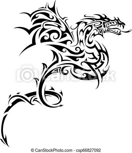入れ墨, 種族, ドラゴン - csp66827092