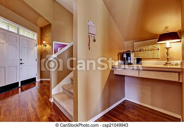 入口, オフィス, 区域, 家, interior., 小さい, ホール - csp21049943