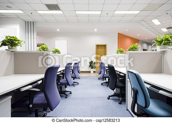 內部, 現代, 辦公室 - csp12583213