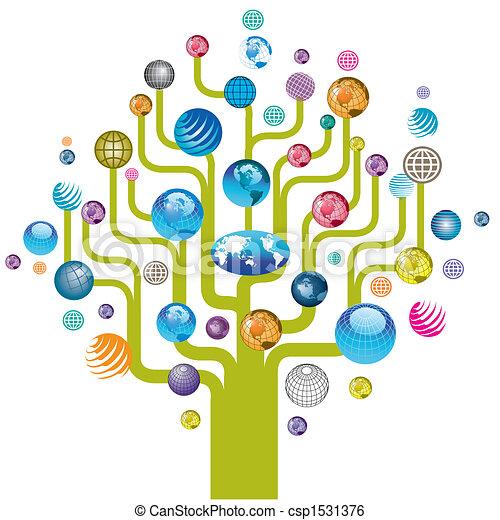 全球, 樹, 鮮艷, 圖象 - csp1531376