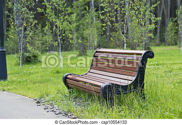 公園のベンチ - csp10554133