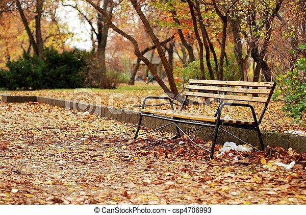 公園のベンチ - csp4706993