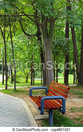 公園のベンチ - csp4801021