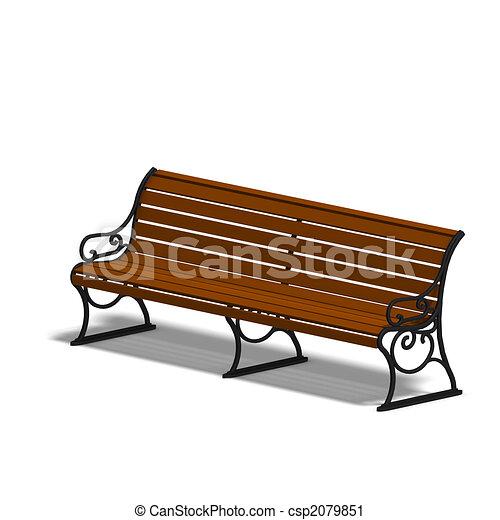 公園長凳 - csp2079851