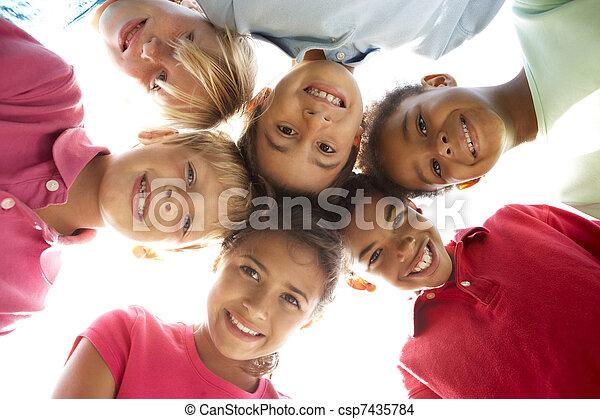 公園, グループ, 遊び, 子供 - csp7435784